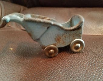 Vintage Small Cast Iron Carriage