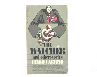Stan Zagorski Cover Design ~ The Watcher and Other Stories by Italo Calvino 1975 Vintage Book