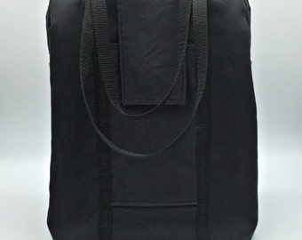 Black Waxed Canvas Insulated Lunch Bag