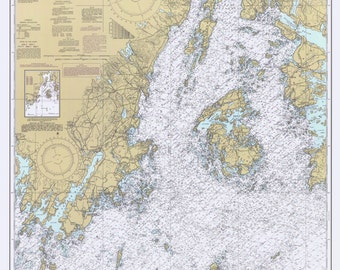 Penobscot Bay and Approaches - 1985 Maine Nautical Map - 80000 AC Reprint - Chart 1203