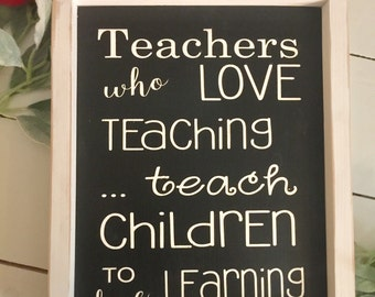 Teacher sign, teacher gift, classroom decor