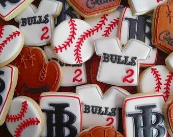Little league baseball cookies