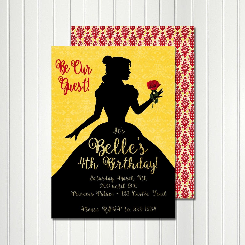 Belle Birthday Invitations is Luxury Style To Create Nice Invitation Card