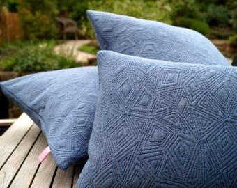 Pillow knit blue 40 x 60 cm