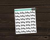 Today Planner Stickers Stickers Planner Stickers To Do List Labels  To Do List Stickers To Do Planner Stickers PM059