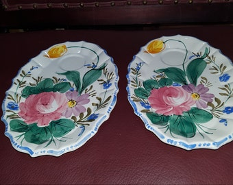 Vtg.Plates Made In Italy 10x8
