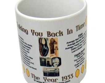 1933 Taking You Back In Time Coffee Mug