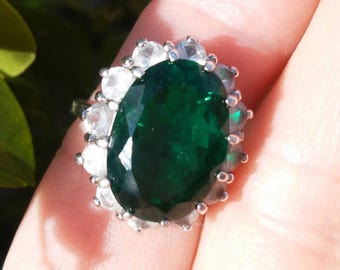Large Oval Emerald Ring  7