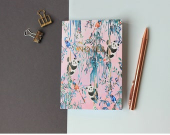 A6 Orient Gardens pocket notebook with gold foiling