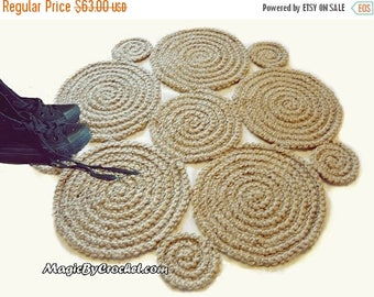 On Sale Hallway Rug 9 Foot Rug Twine Crochet Rug Long Runner