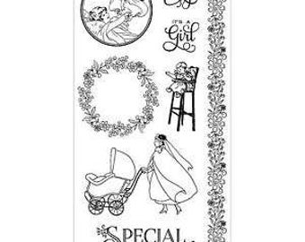 Graphic 45 PRECIOUS MEMORIES 3 Cling Stamps IC0331S cc72