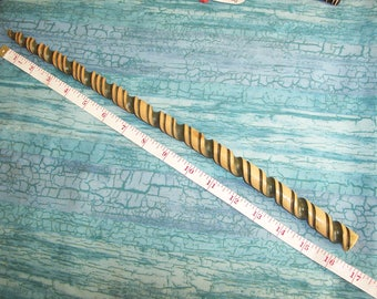 Unicorn Horn Wand_Green stained Cherry wood, Hand crafted_16 1/2 inches in length.