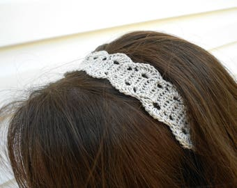 Grey/Sliver Headband - Women's Headband - Ladies Fashion Headband - Hair Band -  Headband - Teen Hairband - Hair Band - Spring Headband