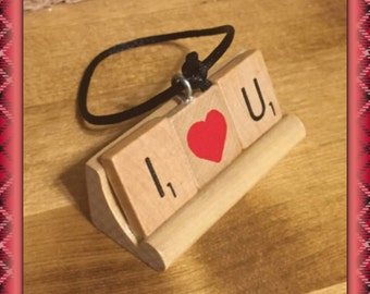 I love you Ornament, Anniversary Gift, Love, Hearts, Girlfriend Gift, ILY, Wife gift, miss you, Valentines Day, Boyfriend Gift