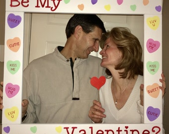 Valentine's Day Photo Booth - Valentine Photobooth - Holiday Photobooth - Valentine Party Photo - Photo Booth Frame Prop -  Wood Frame Prop