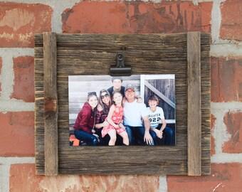 Rustic Reclaimed Wood 4x6 Photo Holder Portrait or Landscape