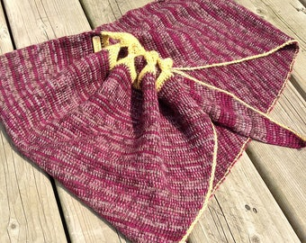 Grinch - Tunisian Crochet Shawl Pattern - Advanced Scarf Crochet Pattern - Sock Yarn Shawl Pattern - Unisex Shawl Scarf Crochet Pattern