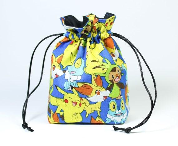 SALE Pokemon Drawstring Bag, Dice Bag