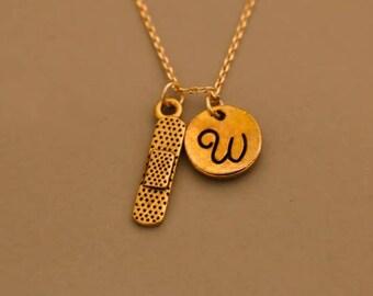Gold  band aid necklace, bandaid necklace, bandaid charm, bandage necklace, Gold Bandage Necklace, Gold Pewter Bandage, Gift for nurse