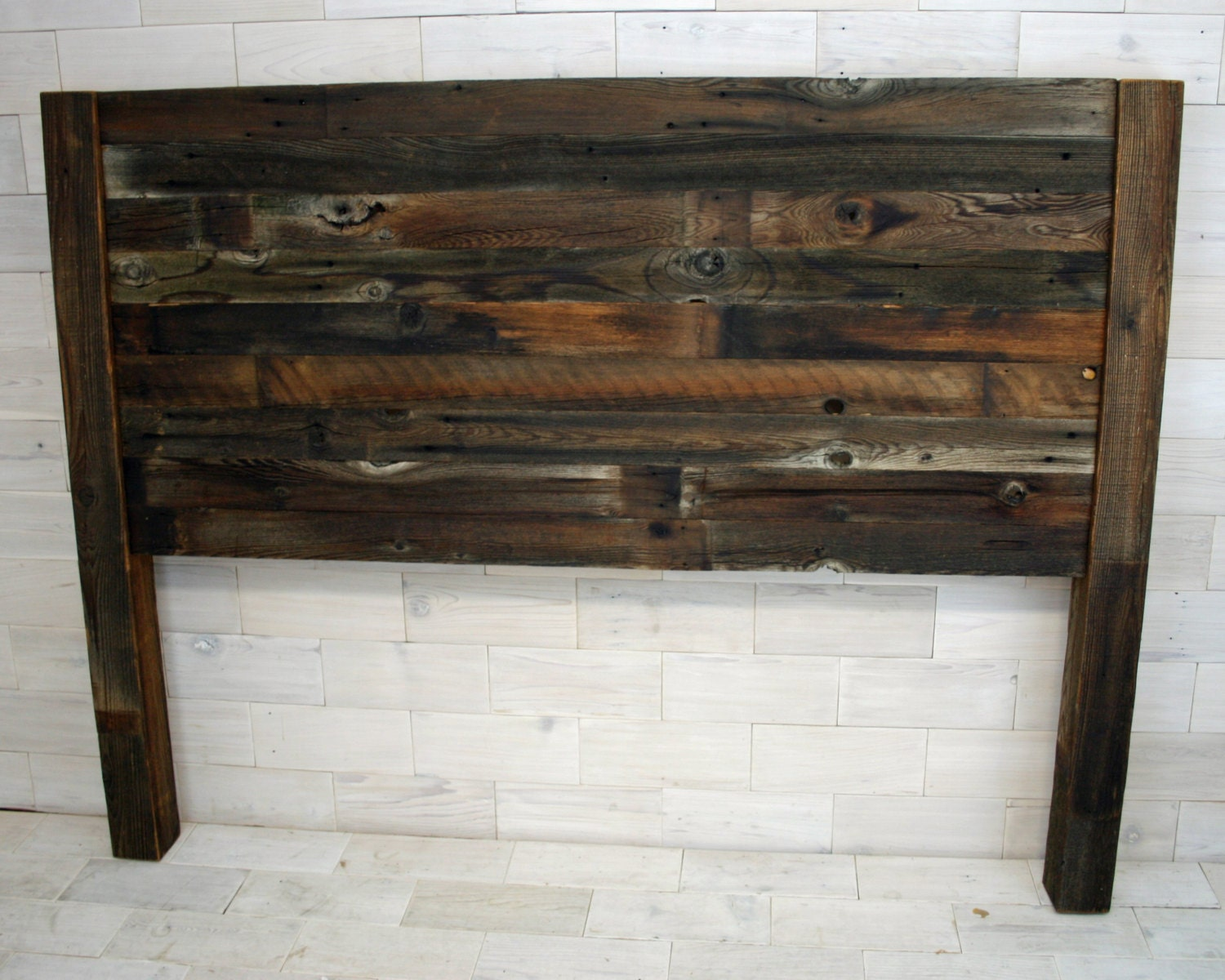 Recumbent Queen Headboard Made From Barn Wood