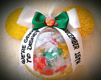 Minnie/Mickey Mouse inspired Customizable Reveal Ornament/Favor/Gift