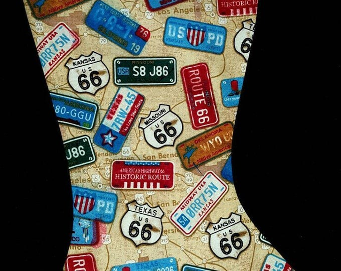 License Plate Christmas Stocking