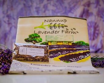 Lavender Scone Recipe Tea Towel