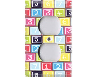 Bright Number Blocks Outlet Cover