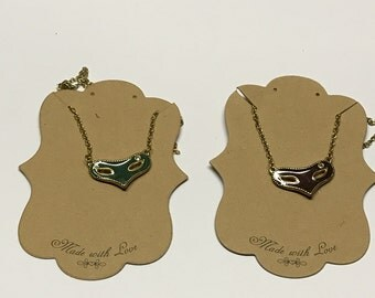 vintage enameled theater mask charm necklaces (2)