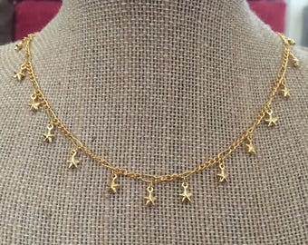 Gold Star Necklace/Choker