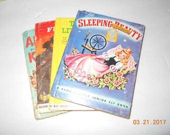 4 vintage Childrens books - Elf books