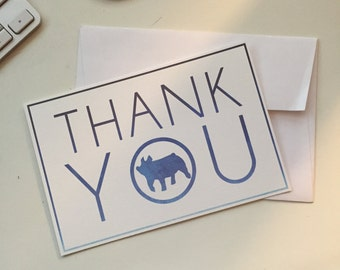 Show Pig Thank You Cards - 4x6 - Flat QTY 5