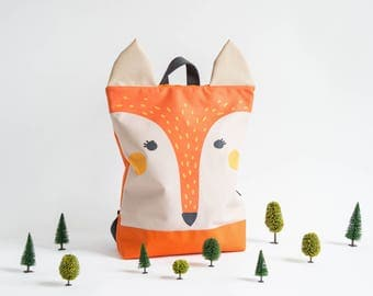 "Waterproof backpack Fox, Backpack Fox for adults, 13"" laptop backpack"