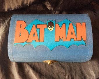 Batman Hand Decorated Storage Chest