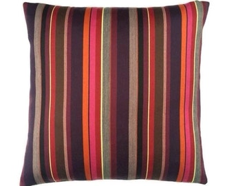 """Stripes by Paul Smith -Melodic Stripe - Maharam - 17""""x17""""  decor Pillow - includes feather insert"""