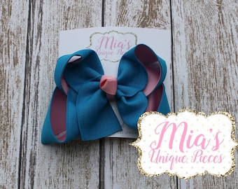 Pink and Turquoise Bow