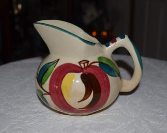 Vintage Puriton  Apple And Pear Pottery Creamer