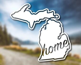 Michigan State Home Decal // Michigan Decal // Vinyl Decal // Car Decal // State Decal // Home State Decal // Bumper Sticker