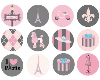 Paris Drawer Knob, Eiffel Tower Drawer Knob, Paris Hand Painted Drawer Pull, French Decor