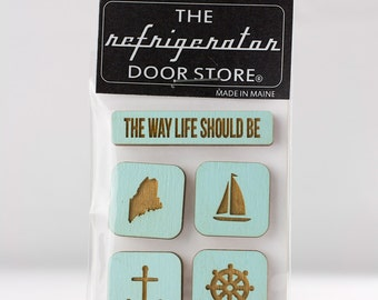 The Way Life Should Be - Maine Coastal. Refrigerator Magnet. Fridge Magnets. Kitchen Magnets. Kitchen Decor. Magnets.