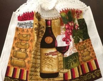 Wine Crochet Top Towel  (R2)