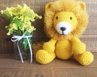 Handmade Stuffed Lion