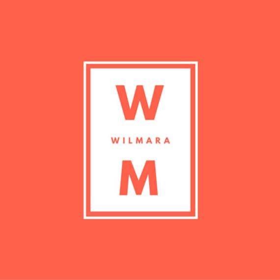 Orange I White I Calligraphy I Box I Monogram Logo I Premade Logo I Custom Logo I Logo Design I Branding Logo