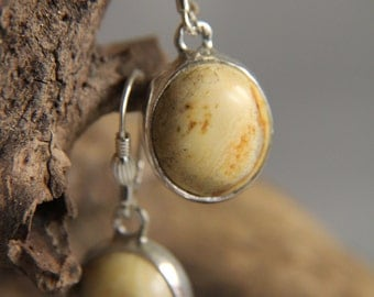 Vintage Butterscotch Yellow Natural Baltic Amber Earrings 925 Sterling Silver 7.4 grams