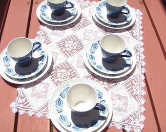Poole Pottery English Made Pattern Morocco Tea Set