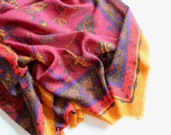 Vintage Tapestry Wall Hanging Large Scarf Textile Colorful Wall Art Boho Home Decor