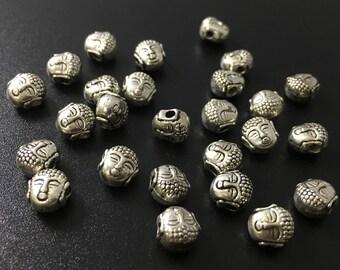 40 pcs Metal buddha bead for shamballa bracelet or other style jewelry honesty bracelet   ( c190 )