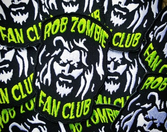 Rob zombie Fan Club patches