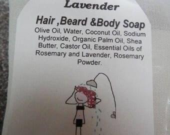 Hair, Beard, and Body Soap