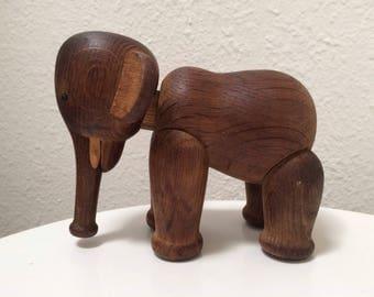 Vintage Kay Bojesen Teak Elephant